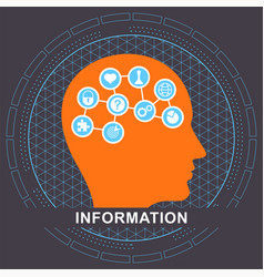 information communication concept vector image
