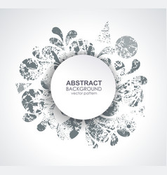 ink blot design on white background vector image