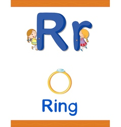 Learning Alphabet R vector image