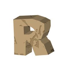 Letter r stone font rock alphabet symbol stones vector