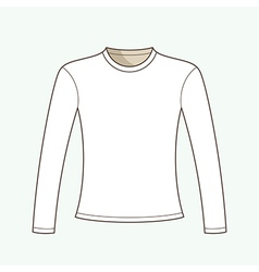 Long Sleeved T-shirt vector image