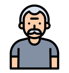 old man avatar filled style icon vector image