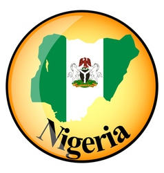 orange button with the image maps of Nigeria vector image
