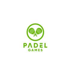 Padel games logo design vector