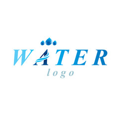 Pure aqua ecology logotype water day theme living vector