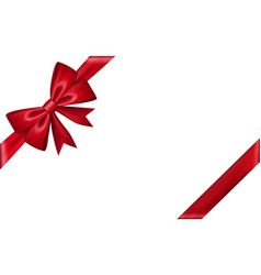ribbon bow gift isolated white background red vector image