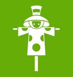 scarecrow icon green vector image