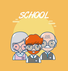 school teachers and students vector image