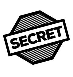Secret black stamp vector