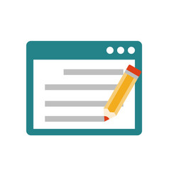 Seo copywriting flat icon vector