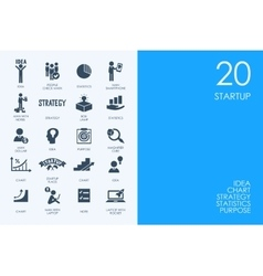 Set of BLUE HAMSTER Library startup icons vector