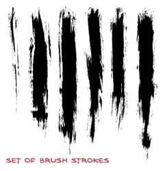Set of brush strokes vector image