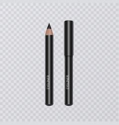 set of realistic black eyeliner pencils vector image