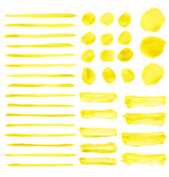 Set of water color brushes vector