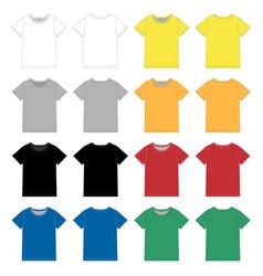 set unisex black t-shirt design template front vector image