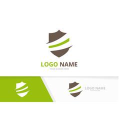 shield logo combination security logotype vector image
