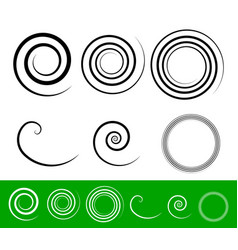 Simple spiral set vector