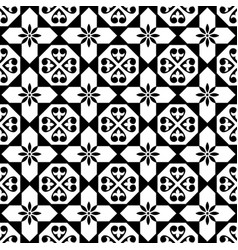 Spanish tiles pattern moroccan and portuguese vector