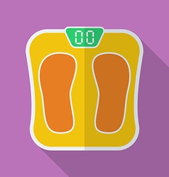 Sport scales icon Modern Flat style with a long vector image