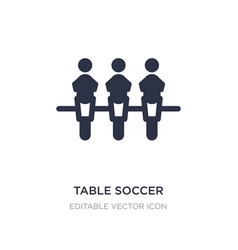 Table soccer icon on white background simple vector