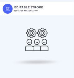 Teamwork icon filled flat sign solid vector