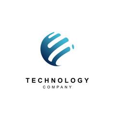 technology logo designabstract tech icon vector image