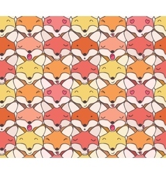 The pattern of funny foxes vector image