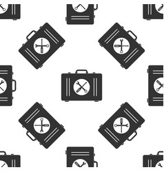 toolbox icon seamless pattern on white background vector image