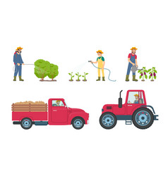 Tractor and lorry with load vector