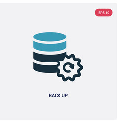 two color back up icon from user interface vector image
