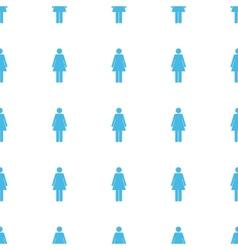 Unique Woman seamless pattern vector