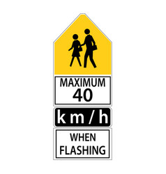 usa traffic road signsduring school hours when vector image