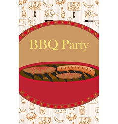 Vintage Barbecue Party Invitation vector