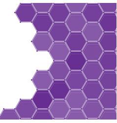 violet honeycomb mosaic pattern futuristic techno vector image
