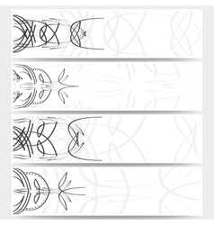 Web banners set pinstripe design header layout vector