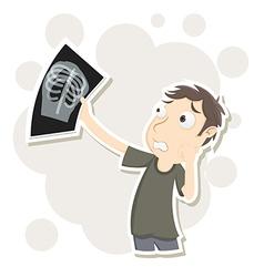 Worried x ray film vector