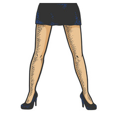 young woman legs in short sexy skirt sketch vector image