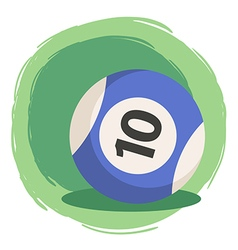 Billiard Ball Number 10 Striped Blue vector image vector image