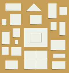 Blank Postage Stamp Set vector image vector image