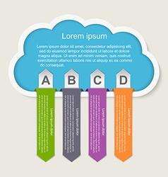 infographic Idea cloud concept vector image vector image