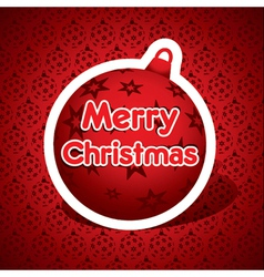 merry christmas red ball stock vector image