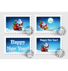 Postage stamp for an envelope with a letter vector image