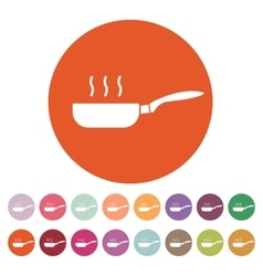 The pan icon Barbecue and kitchen cook symbol vector image