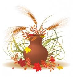 autumnal bouquet vector image vector image