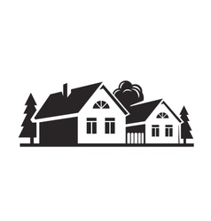 black house vector image vector image