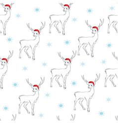 christmas cartoon characters seamless pattern vector image