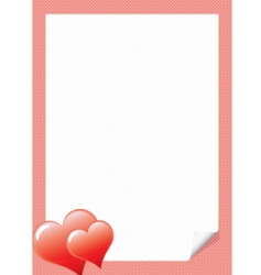 love letter template with hear vector image