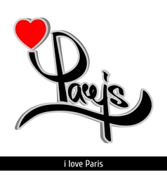 Paris greetings hand lettering Calligraphy vector image vector image