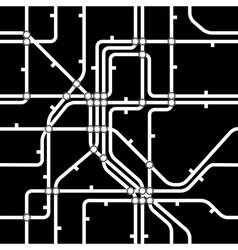 Seamless black background of metro scheme vector image vector image