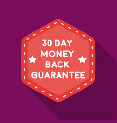 money back guarantee icon in flat style isolated vector image vector image